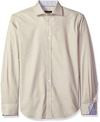 Bugatchi Men's Duke Long Sleeve Tattersall Check Button Down Shirt