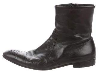 Prada Leather Brogue Boots