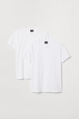 H&M 2-pack premium cotton T-shirts