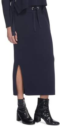 Whistles Drawstring Knit Midi Skirt