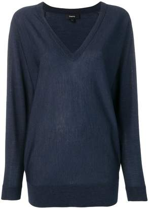 Theory navy knitted jumper