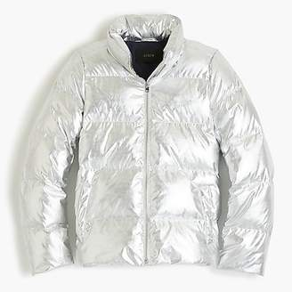 J.Crew Metallic short puffer jacket with Primaloft®