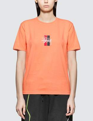 Stussy 2 Bar Stock Coral T-shirt