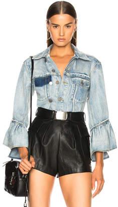 3.1 phillip lim Ruffle Denim Jacket