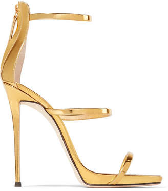 Giuseppe Zanotti - Metallic Leather Sandals - Gold $845 thestylecure.com