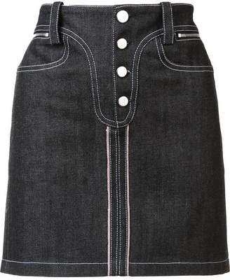 Paco Rabanne denim mini skirt