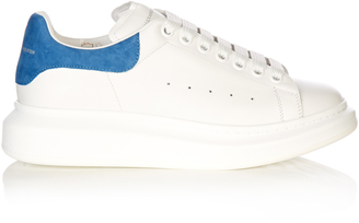 ALEXANDER MCQUEEN Raised-sole low-top leather trainers $431 thestylecure.com