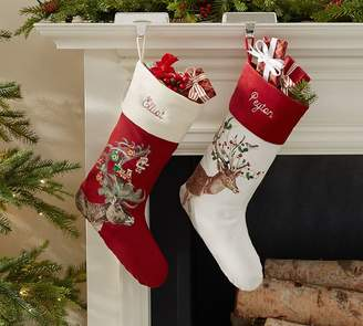 Pottery Barn Silly Stag Stockings