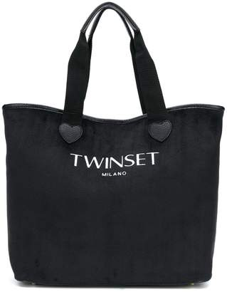 Twin-Set logo tote bag