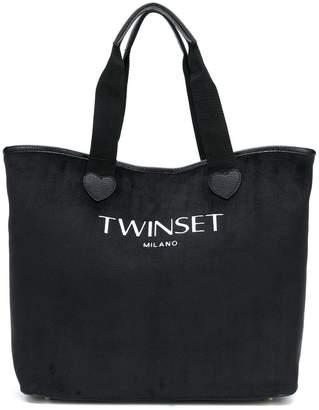 Twin Set Logo Tote Bag