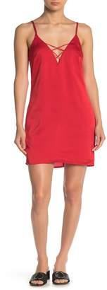 Emory Park Strappy V-Neck Satin Dress
