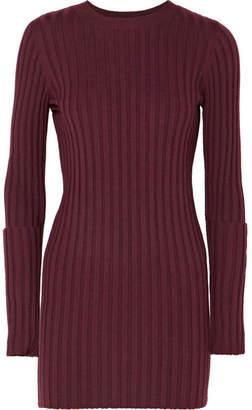 Joseph Zip-embellished Ribbed Wool Tunic