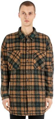 Faith Connexion Plaid Wool Blend Flannel Shirt