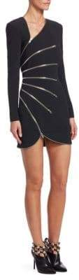 Alexander Wang Zip-Detail Long-Sleeve Mini Dress