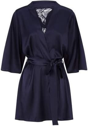 Fleur of England Short Silk Robe