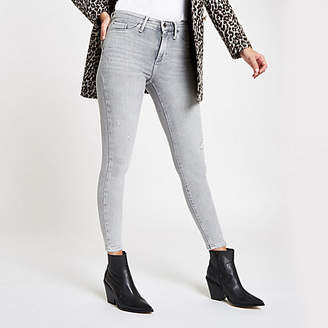 River Island Grey RI Molly mid rise jeggings