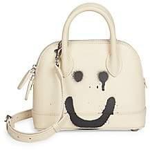 Balenciaga Women's Extra Extra-Small Ville Smile Top Handle Leather Bag
