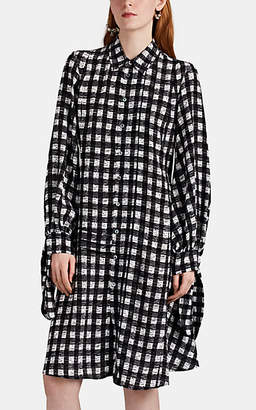Derek Lam Women's Graphic-Checked Silk Shirtdress - Black-White