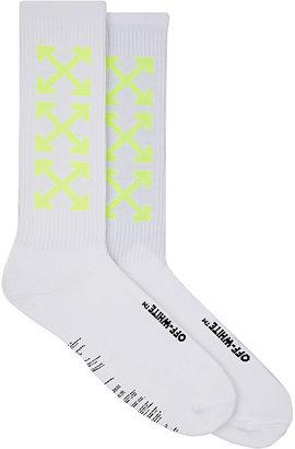 Off-White c/o Virgil Abloh Men's Arrow-Pattern Mid-Calf Socks $75 thestylecure.com