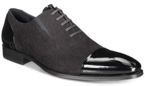 Mezlan Men's Mixed-Media Cap-Toe Oxfords, Created for Macy's Men's Shoes