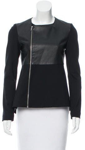 Elizabeth And James Elizabeth and James Leather_Accented Casual Jacket