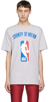 Marcelo Burlon County of Milan Grey NBA T-Shirt