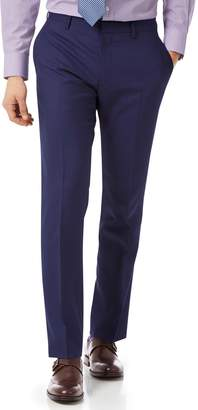 Charles Tyrwhitt Royal Blue Slim Fit Merino Business Suit Wool Pants Size W32 L32