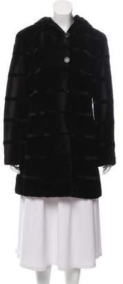J. Mendel Sheared Mink Hooded Coat