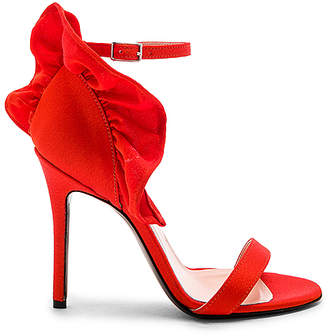 MSGM Ruched Heeled Sandal