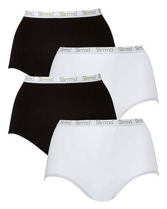 Naturally Close 4Pack Slimma Full Fit Black/White Briefs