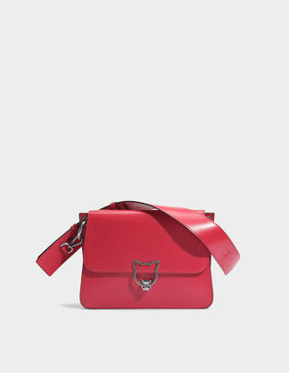 Karl Lagerfeld Kat Lock Shoulder Bag in Ladybird Smooth Calf Leather