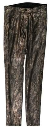 J Brand Snakeskin Printed Low-Rise Leggings