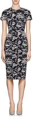 Victoria Beckham Women's Abstract Cotton-Blend Jacquard Fitted Sheath Dress - Bright Blue-Pale Pink