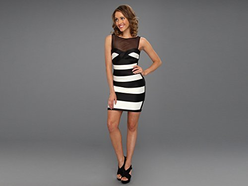 BCBGMAXAZRIA Women's Mara Fitted Dress With Color Blocked