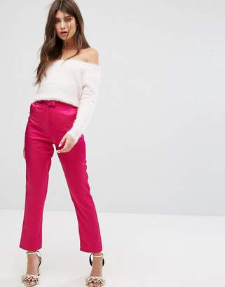 Fashion Union Cigarette Pants In Luxe Fabric