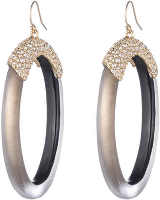 Alexis Bittar Crystal Encrusted Oval Drop Wire Earring