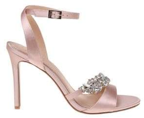 Badgley Mischka Merida Satin Stiletto Sandals