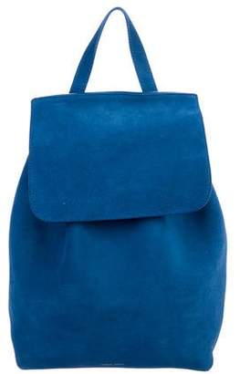 Mansur Gavriel Suede Drawstring Backpack