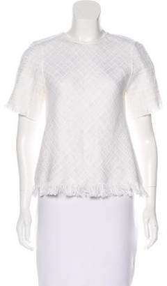 Alexis Theodore Fringe-Trimmed Top w/ Tags