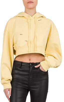 The Kooples Distressed Cropped Hoodie