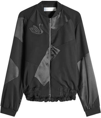 Victoria Beckham Victoria Wool Bomber Jacket with Silk