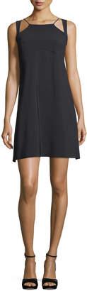 Chiara Boni Eiko Geometric-Neck Sleeveless A-Line Cocktail Dress