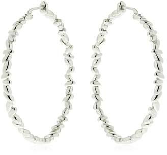 Bea Yuk Mui Bongiasca Silver Circle Rice Hoop Earrings