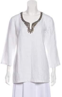 MICHAEL Michael Kors Embellished Long Sleeve Blouse