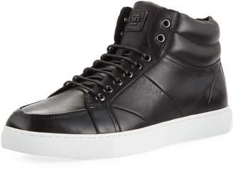 Zanzara Men's Tassel High-Top Leather Sneakers