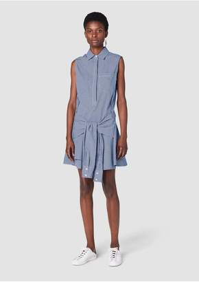 Derek Lam 10 Crosby Sleeveless Tie-Waist Shirtdress
