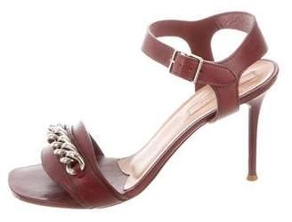 Celine Embellished Ankle Strap Sandals