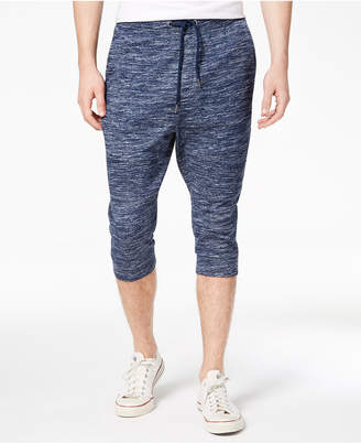 American Rag Men's Marled Cropped-Leg Moto Joggers, Created for Macy's