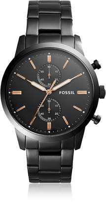 Fossil Townsman 44mm Chronograph Black Stainless Steel Men's Watch