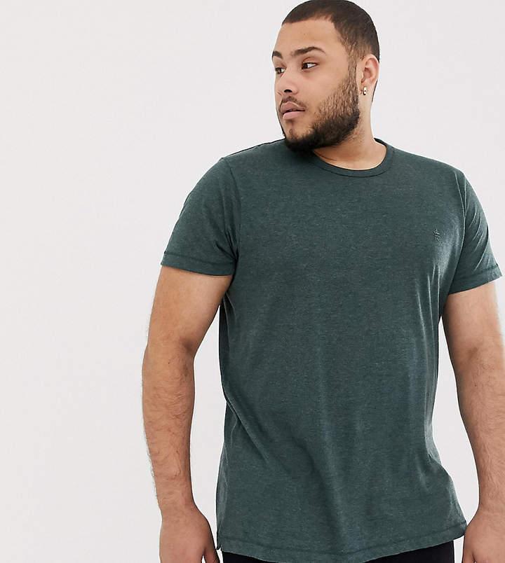 PLUS – Meliertes T-Shirt mit Logo